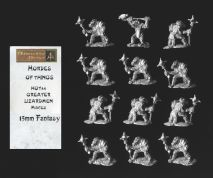 Alternative Armies 15mm Fantasy HOT44 Greater Lizardmen with Mace (x 12)